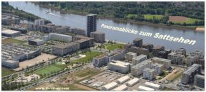 Überseestadt Bremen im Luftbildpanorama