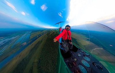 Gyrocopter flight near Teufelsmoor